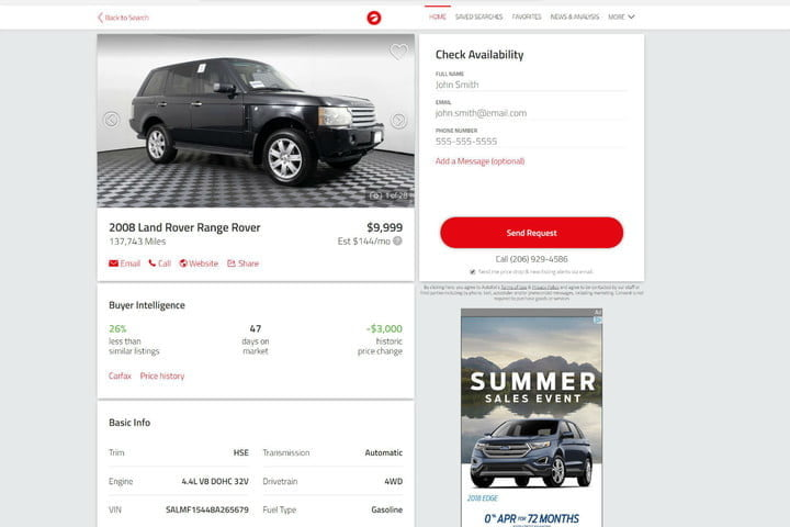 The best place to search on the go used cars